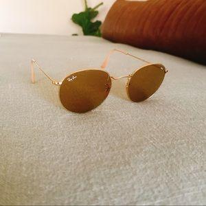Ray-Ban Polarized Washed Evolve + Gold Sunglasses